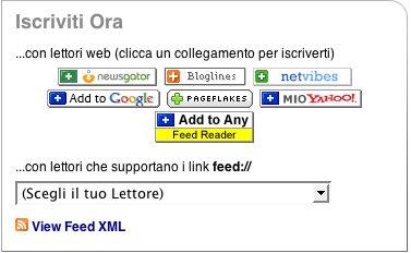 Opzioni feed per ScriCal