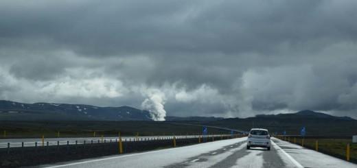 Le fumarole indicano attività geotermica