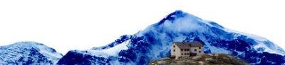 Montagna con rifugio